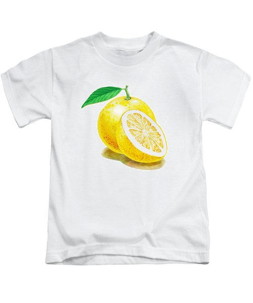 Juicy Grapefruit Kids T-Shirt by Irina Sztukowski
