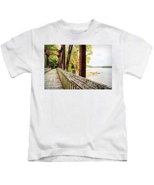 Katy Trail Near Coopers Landing Kids T-Shirt by Cricket Hackmann