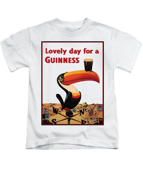 Lovely Day For A Guinness Kids T-Shirt by Nomad Art