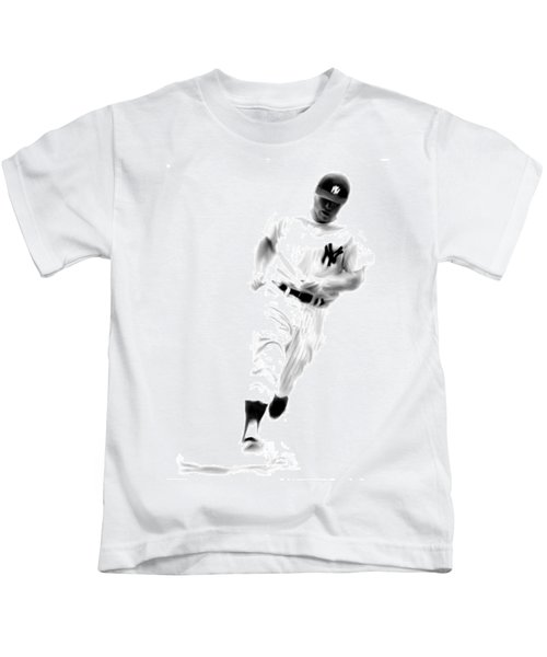 Mantles Gate  Mickey Mantle Kids T-Shirt by Iconic Images Art Gallery David Pucciarelli