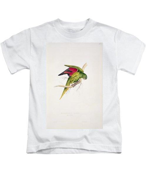 Matons Parakeet Kids T-Shirt by Edward Lear