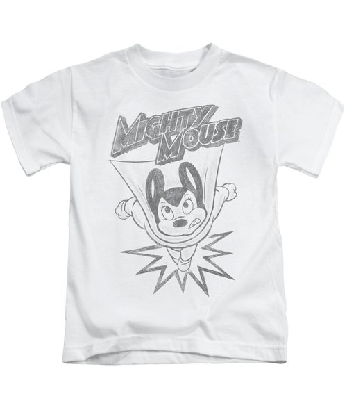 Mighty Mouse - Bursting Out Kids T-Shirt by Brand A