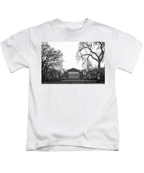 Northrop Auditorium At The University Of Minnesota Kids T-Shirt by Tom Gort