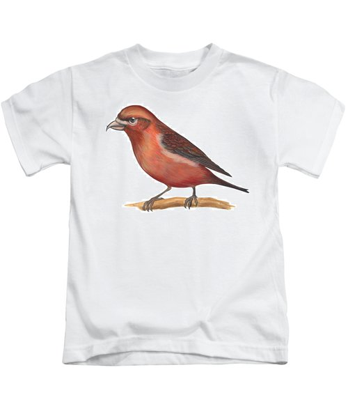 Red Crossbill Kids T-Shirt by Anonymous