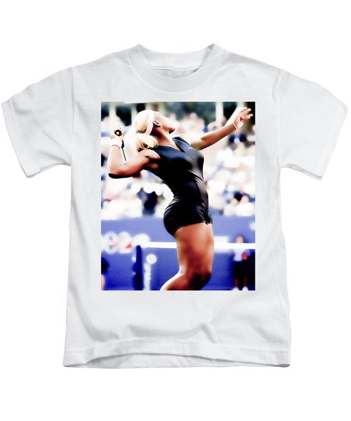 Serena Williams Catsuit Kids T-Shirt by Brian Reaves