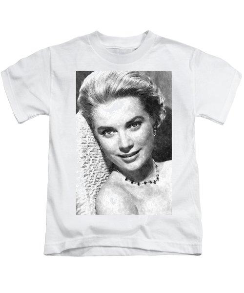 Simply Stunning Grace Kelly Kids T-Shirt by Florian Rodarte