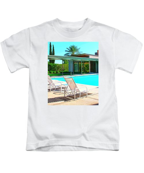 Sinatra Pool Palm Springs Kids T-Shirt by William Dey