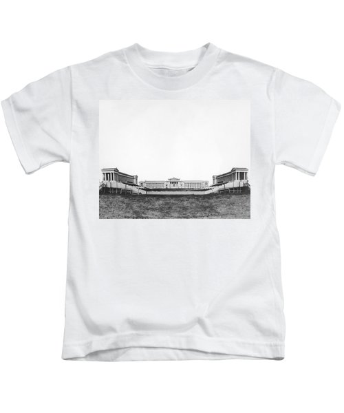 Soldiers' Field And Museum Kids T-Shirt by Underwood Archives