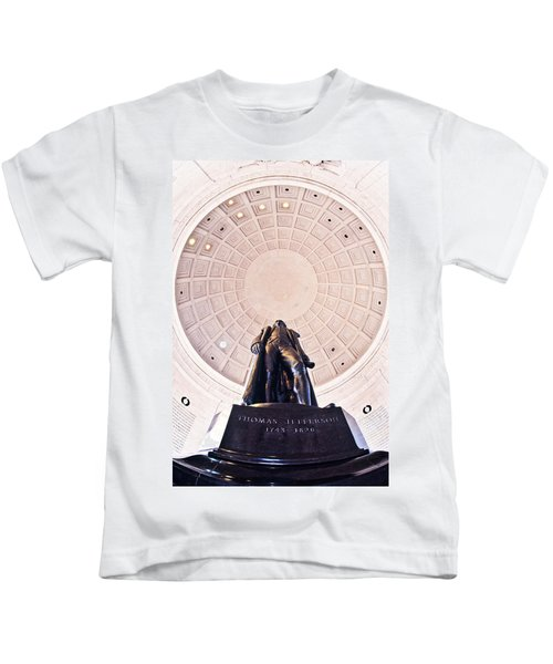 Statue Of Thomas Jefferson Kids T-Shirt by Panoramic Images