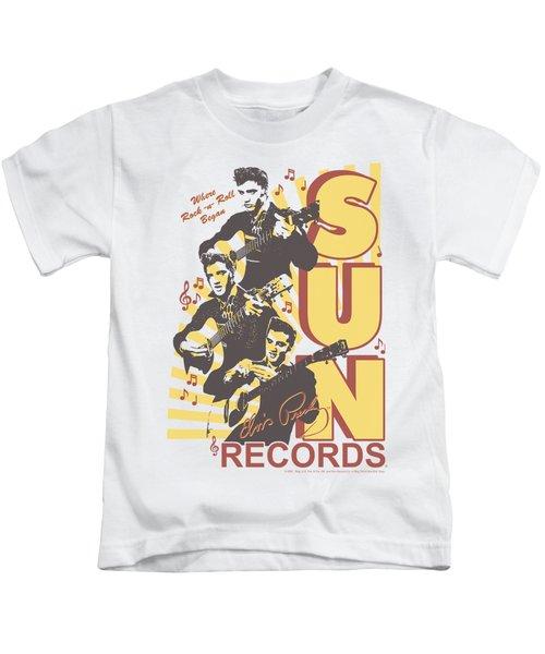 Sun - Tri Elvis Kids T-Shirt by Brand A
