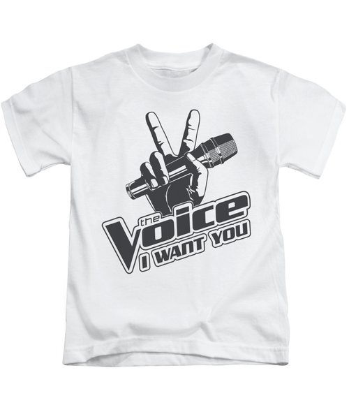 The Voice - One Color Logo Kids T-Shirt by Brand A