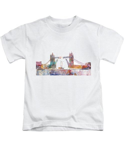 Tower Bridge Colorsplash Kids T-Shirt by Aimee Stewart