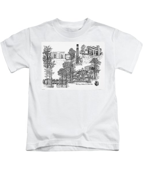 University Of Arkansas Kids T-Shirt by Liz  Bryant