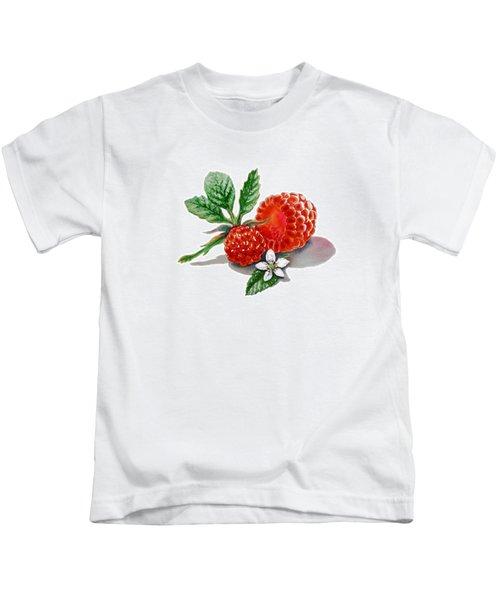 Artz Vitamins A Very Happy Raspberry Kids T-Shirt by Irina Sztukowski