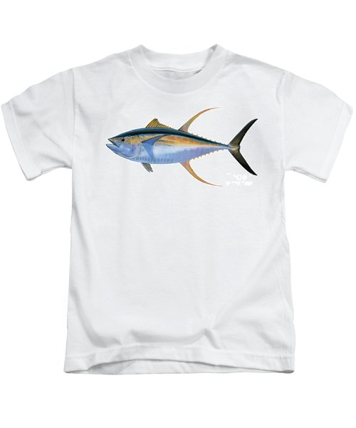 Yellowfin Tuna Kids T-Shirt by Carey Chen