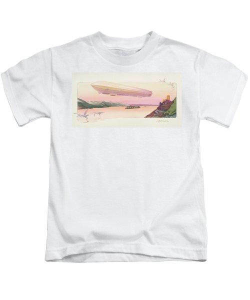 Zeppelin, Published Paris, 1914 Kids T-Shirt by Ernest Montaut