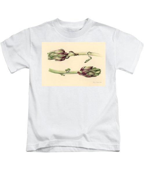 Artichokes Kids T-Shirt by Alison Cooper