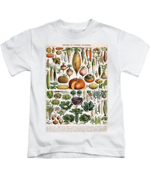 Illustration Of Vegetable Varieties Kids T-Shirt by Alillot