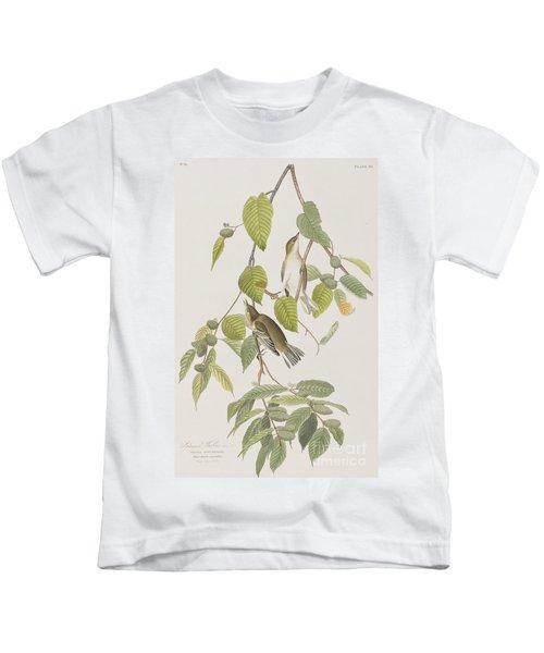 Autumnal Warbler Kids T-Shirt by John James Audubon