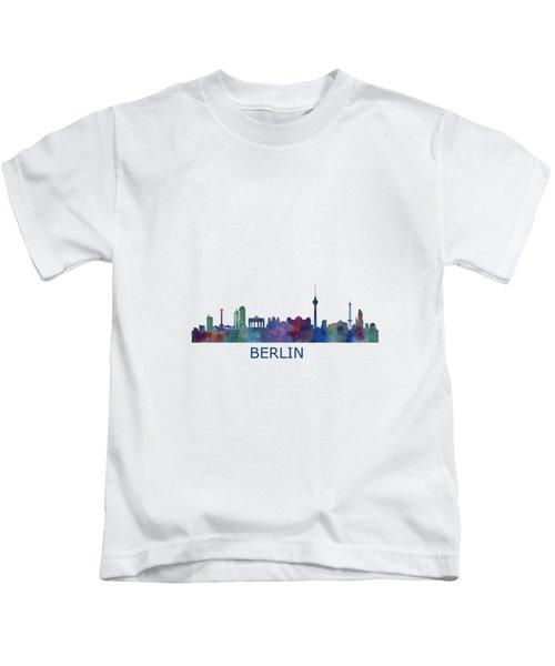 Berlin City Skyline Hq 1 Kids T-Shirt by HQ Photo