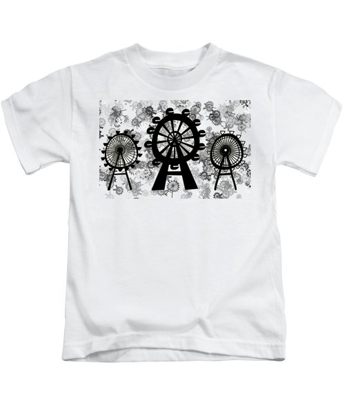 Ferris Wheel - London Eye Kids T-Shirt by Michal Boubin