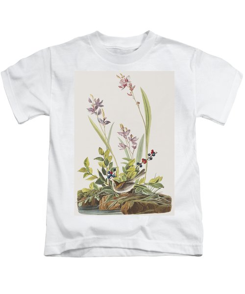 Field Sparrow Kids T-Shirt by John James Audubon