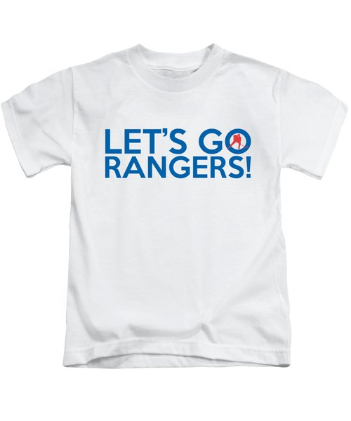 Let's Go Rangers Kids T-Shirt by Florian Rodarte