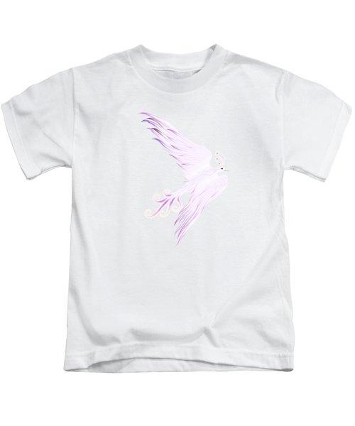 Magical Phoenix Bird Artistic Design Kids T-Shirt by Awen Fine Art Prints