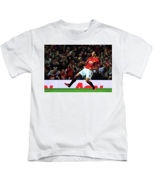 Manchester United's Zlatan Ibrahimovic Celebrates Kids T-Shirt by Don Kuing