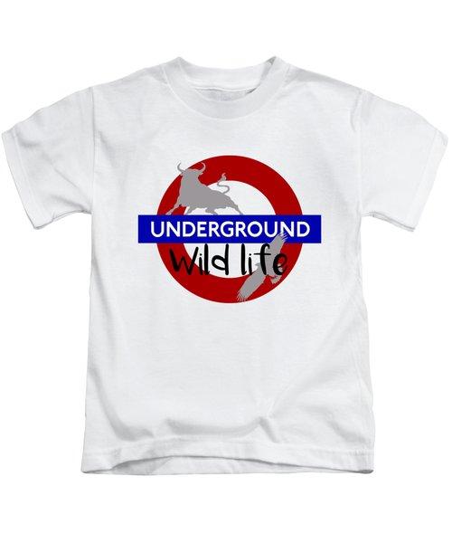 Underground.2 Kids T-Shirt by Alberto RuiZ