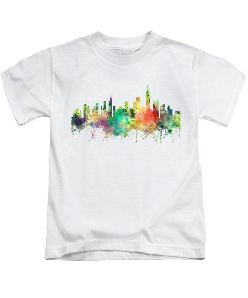 Chicago Illinois Skyline Kids T-Shirt by Marlene Watson
