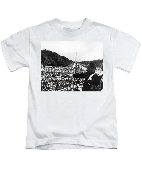 Martin Luther King, Jr Kids T-Shirt by Granger