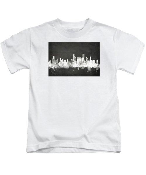 Chicago Illinois Skyline Kids T-Shirt by Michael Tompsett