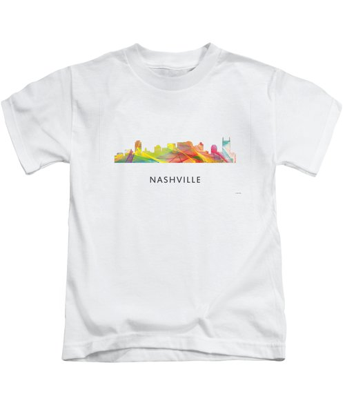 Nashville Tennessee Skyline Kids T-Shirt by Marlene Watson