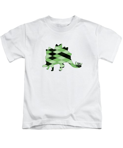 Stegosaurus Kids T-Shirt by Mordax Furittus