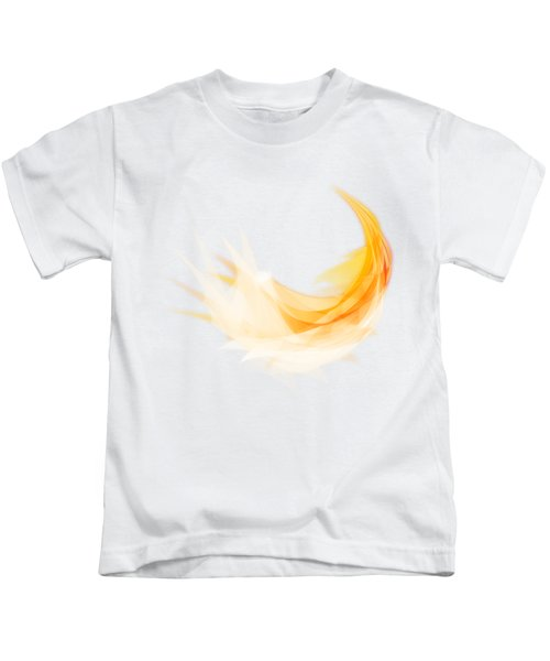 Abstract Feather Kids T-Shirt by Setsiri Silapasuwanchai