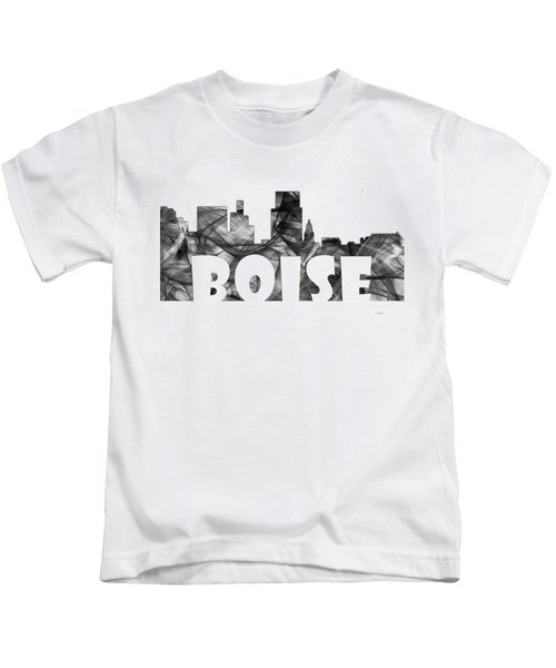 Boise Idaho Skyline Kids T-Shirt by Marlene Watson