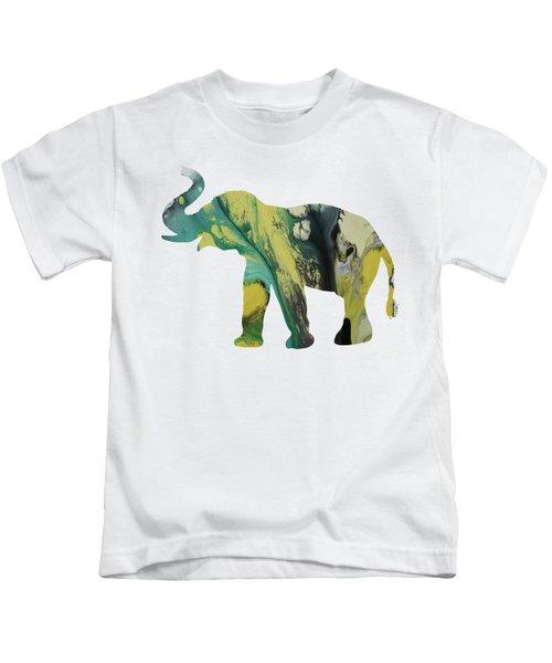 Elephant Kids T-Shirt by Mordax Furittus