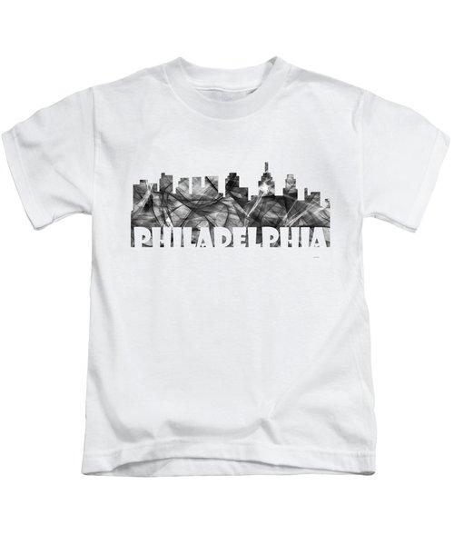 Philadelphia Pennsylvania Skyline Kids T-Shirt by Marlene Watson