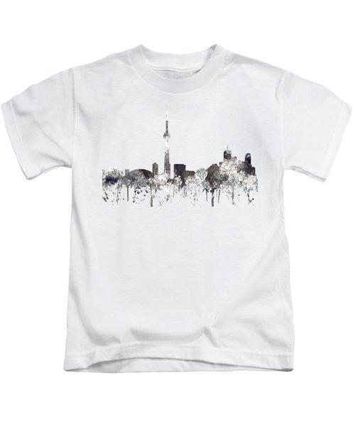 Toronto Ont.skyline Kids T-Shirt by Marlene Watson