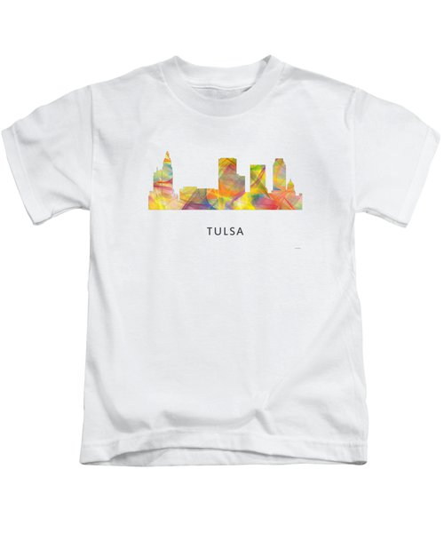 Tulsa Oklahoma Skyline Kids T-Shirt by Marlene Watson