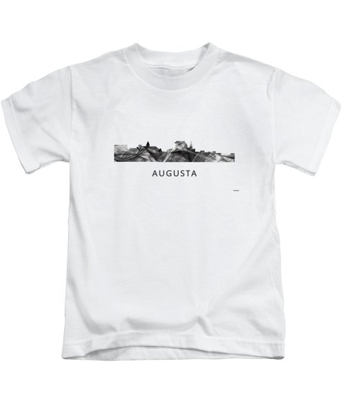 Augusta Maine Skyline Kids T-Shirt by Marlene Watson