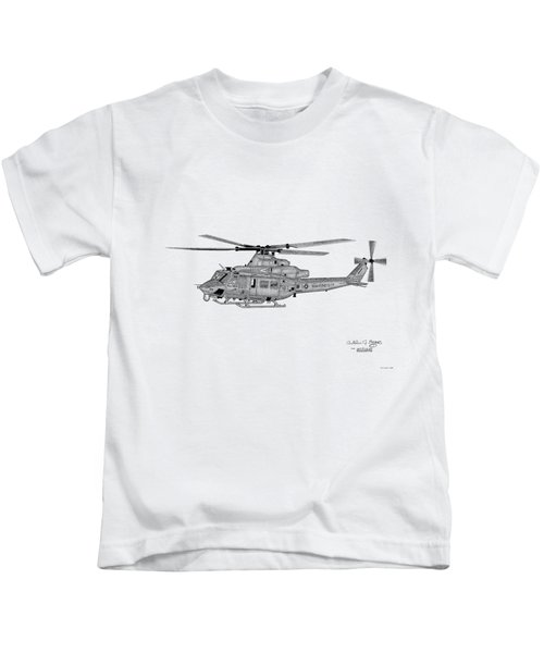 Bell Helicopter Uh-1y Venom Kids T-Shirt by Arthur Eggers