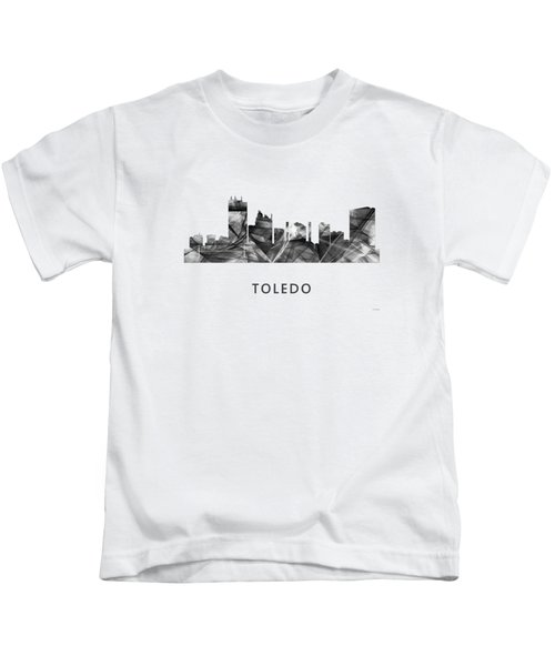 Toledo Ohio Skyline Kids T-Shirt by Marlene Watson