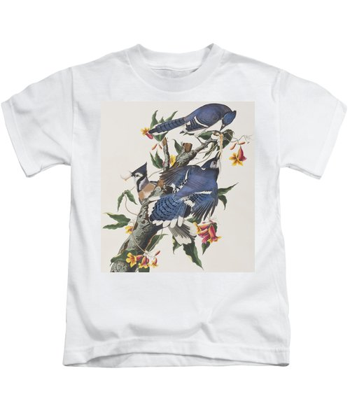 Blue Jay Kids T-Shirt by John James Audubon