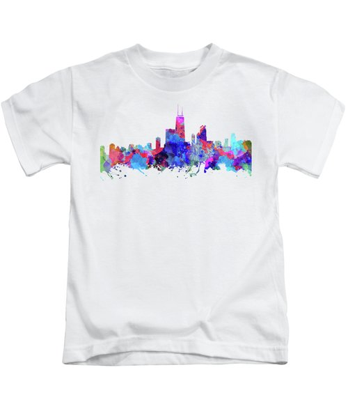Chicago  Kids T-Shirt by JW Digital Art