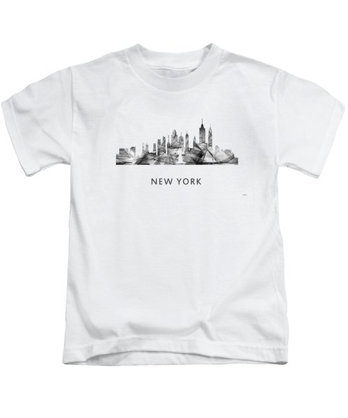 New York New York Skyline Kids T-Shirt by Marlene Watson