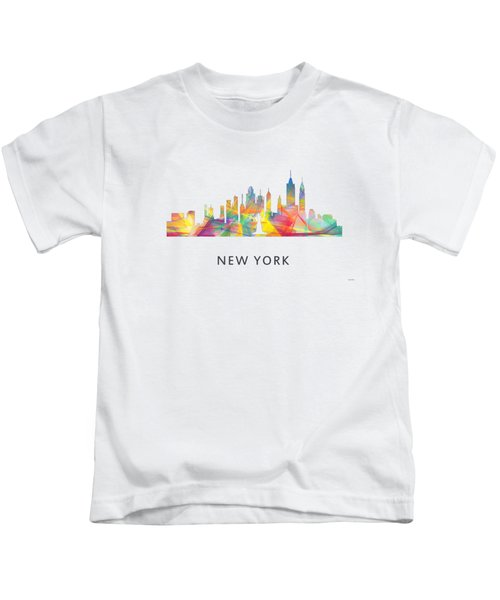 New York Skyline Kids T-Shirt by Marlene Watson