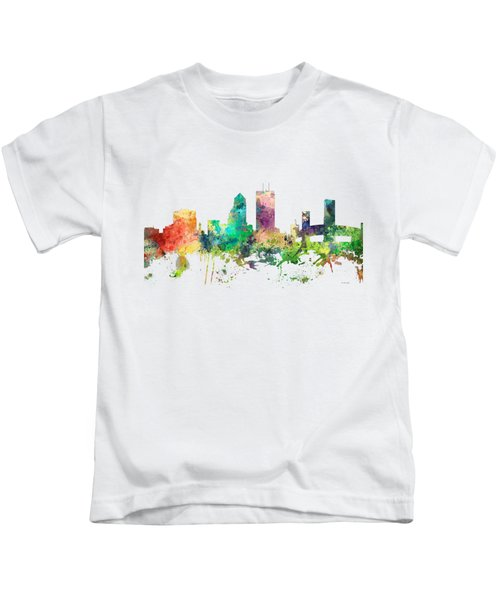 Jacksonville Florida Skyline Kids T-Shirt by Marlene Watson