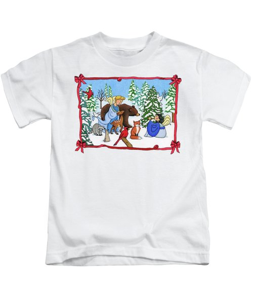 A Christmas Scene 2 Kids T-Shirt by Sarah Batalka